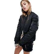 Fashion Jacket 2017 Winter Women Embroideried Bomber Jacket Black Warm Baseball Stand Neck Women Jacket Ladies Winter Coats
