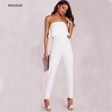 Bodysuit Women Limited Body Feminino Vadim Free Shiping 2019 Summer New Jumpsuit Pants Collar Solid Lotus Straight Cotton