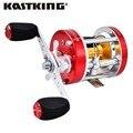 Kastking 2016 nuevo derecho zurdo baitcasting carrete de pesca super light 5.3: 1 cuerpo de metal ronda pesca carrete peaca rueda