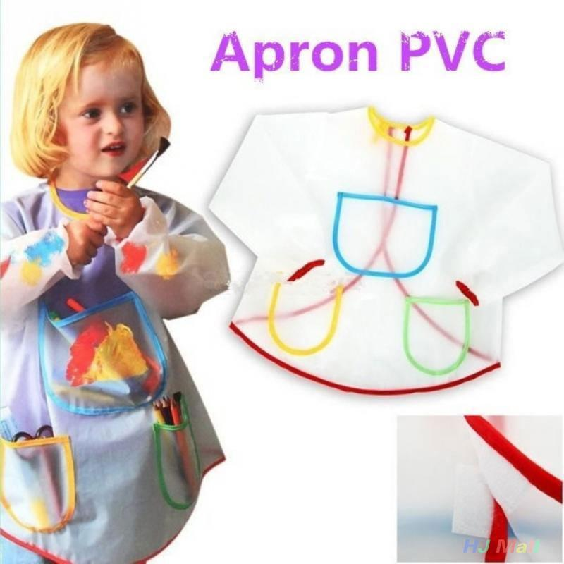 Toddler Kid Waterproof Long Sleeve Artist Craft Art Painting Cooking Apron Smock in Aprons from Home Garden