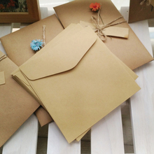 10pcs/lot 13.5*13.5cm Square Kraft Paper Envelope CD Card Enclosure
