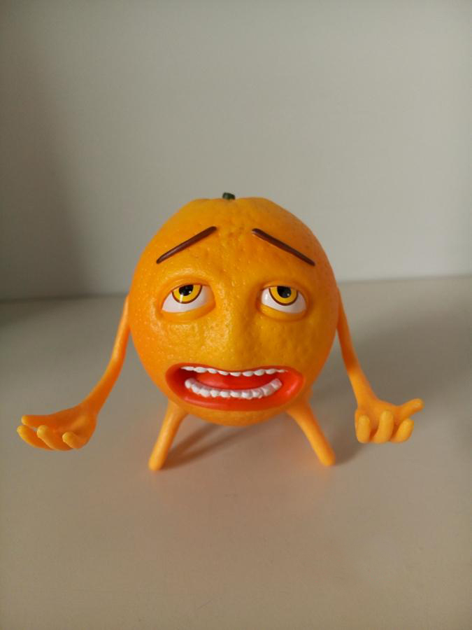 ФОТО New Arrival Sad Orange Head Play Toys Funny Simulation 4