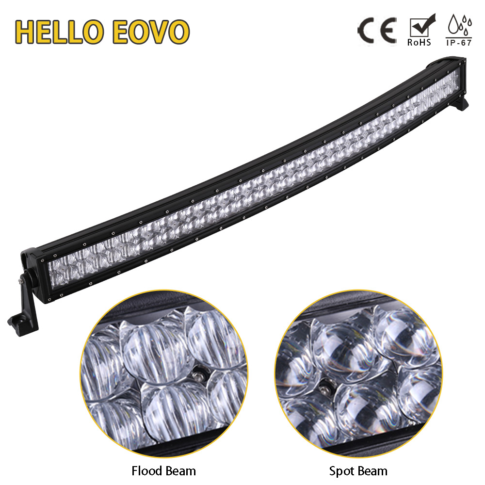 HELLO EOVO 5D 42 inch 400W Curved LED Light Bar for Work Indicators Driving Offroad Boat Car Tractor Truck 4x4 SUV ATV 12V 24V hello eovo 5d 32 inch curved led bar led light bar for driving offroad boat car tractor truck 4x4 suv atv with switch wiring kit