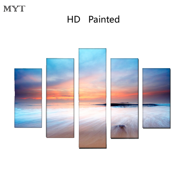 High Quality Cheap Picture 100% HD Print Wall Canvas Art Seascape Lake Landscape Painting Poster Wall Pictures No Framed
