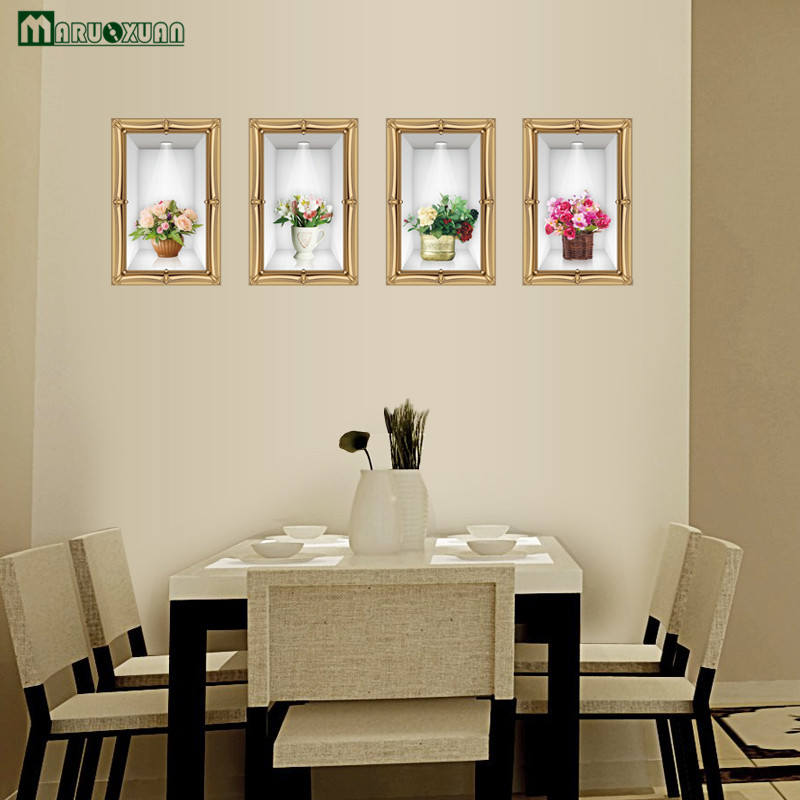 ᐊMaruoxuan 3D Adhesivos de pared salón comedor pared decoración ...
