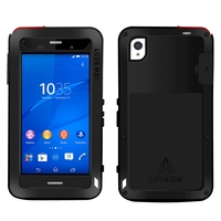 For Sony Xperia Z3 Case Waterproof Shockproof Gorilla Glass Protective Phone Metal Cover Aluminum Armor