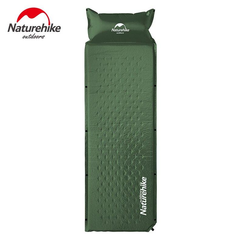 naturehike auto inflavel dormir esteira colchao com travesseiro auto inflar almofada de dormir cama dobravel barraca