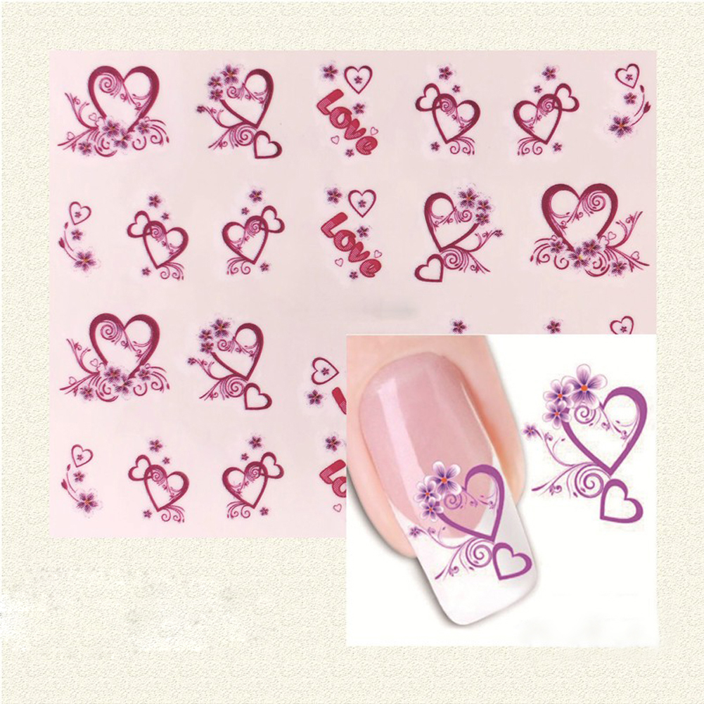 Aliexpress 1 Pc Heart Designs Nail Stickers Nails Polish Strips Korea Vinyls Water Transfer Art Summer Decorations From Reliable