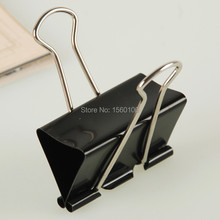Free shipping (24pcs/pack)41mm metal paper clip black binder clip letter holder stationery clip office supply