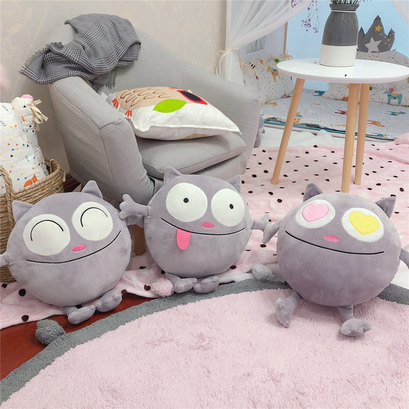 7ad2532021e6 Funny Cats Team Funny Expressions Cats A chubby cat Animal Stuffed Kitty  Cat Toy baby toys Decorate the living room Bedroom