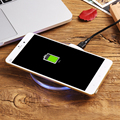 Wireless Charger Micro USB Fast Charging For Android Phone Fashion Round Clear Indicator Light Adapter Receptor For Samsung HTC