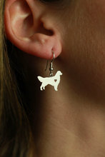 Min 1 Pair Handmade Jewelry Golden Retriever Earrings Studs Silver Dog Charms Dangle Charm Memorial Mothers Day Gift For Women