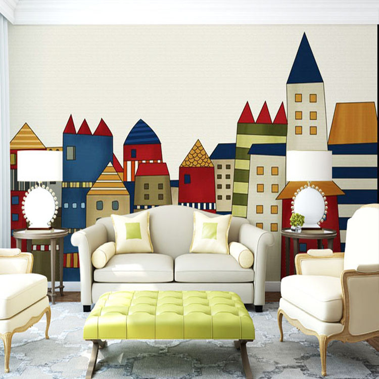 Buy Cartoon Little House Wallpaper Giant Photo Wallpaper Custom 3d Wall Murals