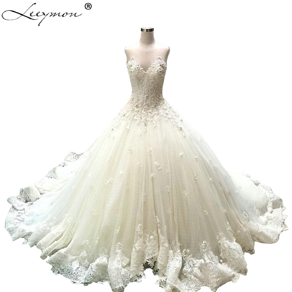 Roman Wedding Gowns: Romantic Russian Ball Gown Lace Sweethreart Wedding
