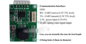 Image 5 - PTC06 マイクロシリアルjpegカメラモジュールcmos 1/4 インチttl/uartインタフェースavr STM32 ビデオ制御画像