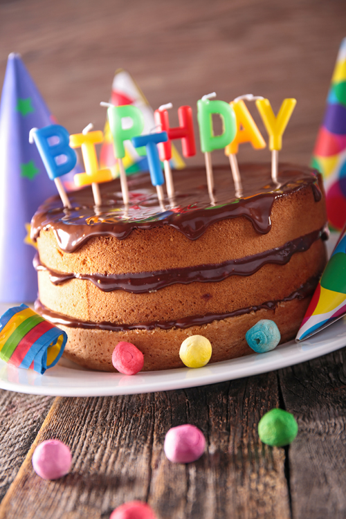 Newborn Birthday Party Cake Background Computer Printed Photography