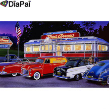 DIAPAI Diamond Painting 5D DIY 100% Full Square/Round Drill Car text landscape Embroidery Cross Stitch 3D Decor A24837