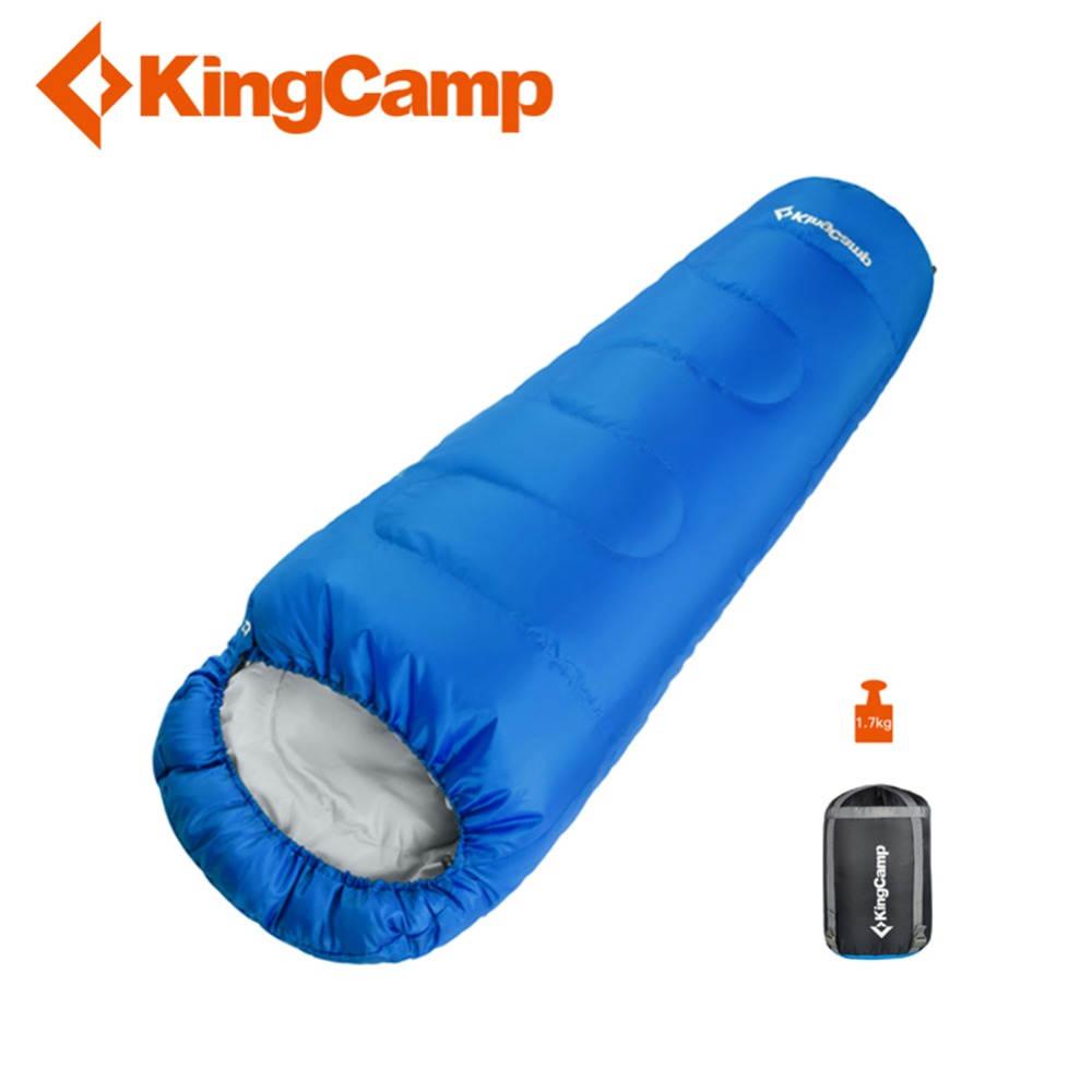 KingCamp Mummy Sleeping Bag Splicing Double Sleeping Bag Winter Waterproof Compression Outdoor Equipment for Camping Trekking bask compression bag m