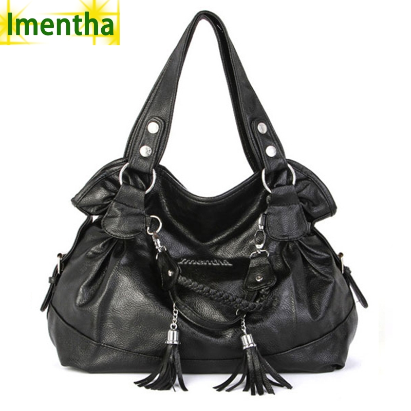 Large 2017 fashion black women Shoulder Bags Tassel big Casual Tote female lady hand bag shopping women leather handbags arashi motorcycle radiator grille protective cover grill guard protector for 2008 2009 2010 2011 honda cbr1000rr cbr 1000 rr