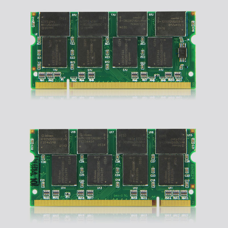 Laptop Memory Ram SO-DIMM PC2700 DDR 333 / 266 MHz 200PIN 1GB / DDR1 DDR333 PC 2700 333MHz 200 PIN For Notebook Sodimm Memoria 2