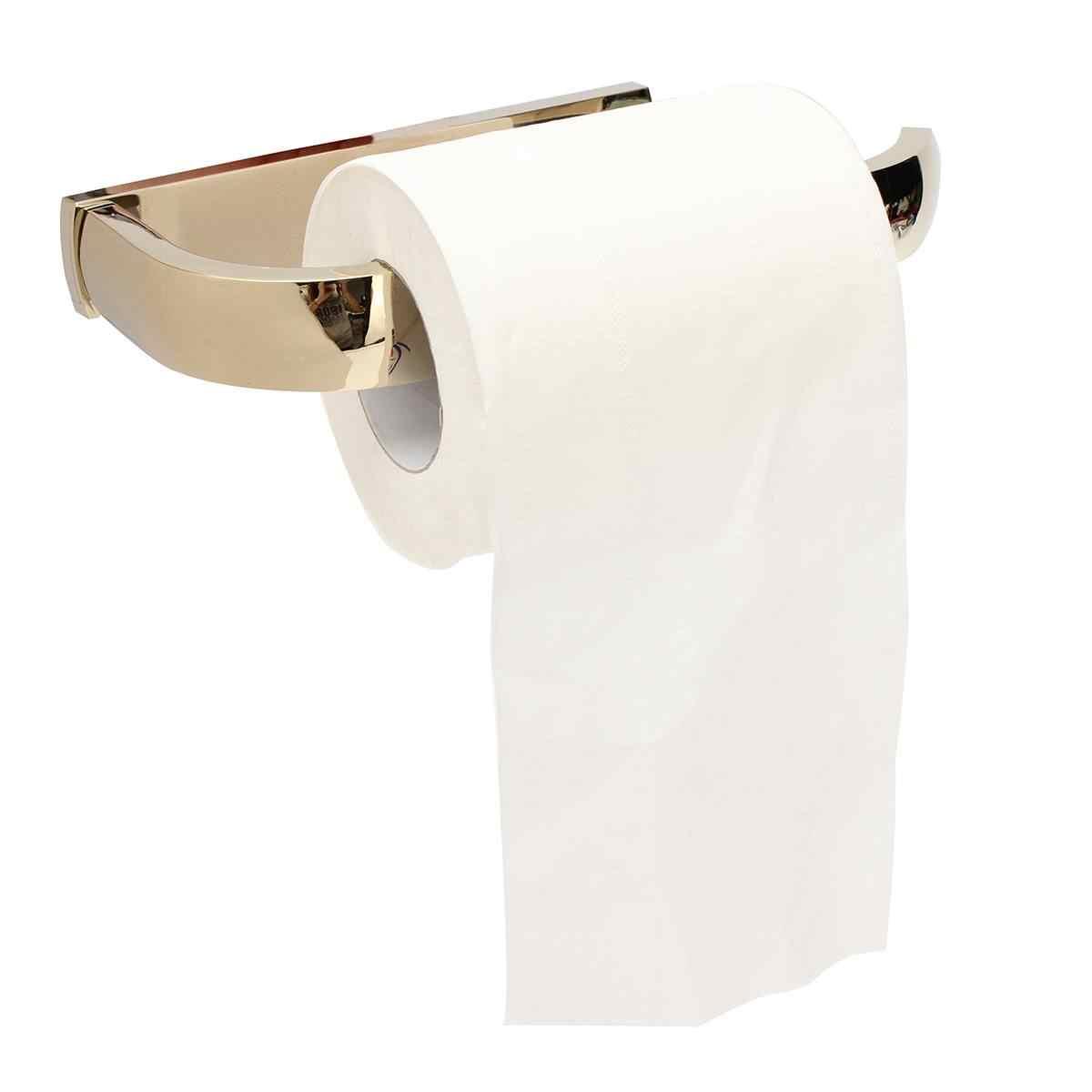 الذهب حامل ورق المرحاض الحمام المطبخ المنزل جدار جبل بكرة مناديل شماعات النحاس ملحقات الحمام