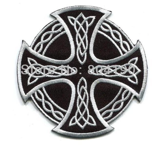Noir Blanc Croix Celtique Irlandaise Goth Tatouage Druides Wicca