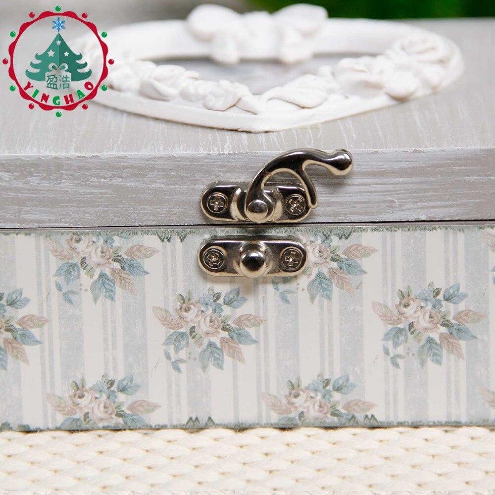 inhysa 1 st Chic Hantverk Smycken Square Shape Box Förvaring DIY - Heminredning - Foto 3