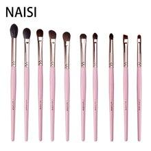 NAISI Professional 10PCS Eye Shadow Eyebrow Brush Makeup Brushes Cosmetic Tool Make Up Eye Brushes Set Goat horse synthetic hair