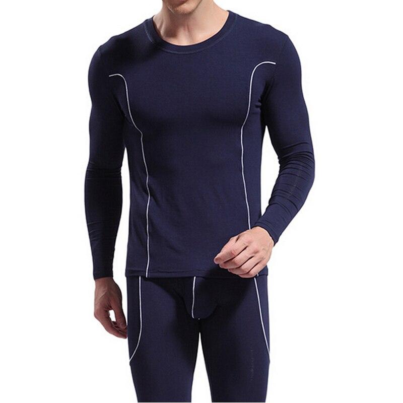 Mens Bamboo Fiber Thermal Underwear Ropa Interior Hombre Long Johns Set Men Warm Leggings Mens Elasticity Comfortable Underwear