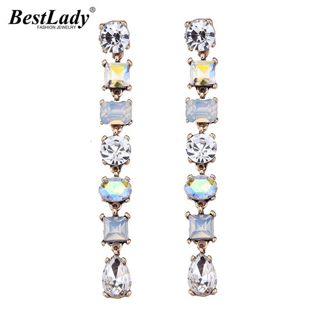 Best lady Luxury Beads Colorful Long Earrings Statement Jewelry Fashion Brand Ho