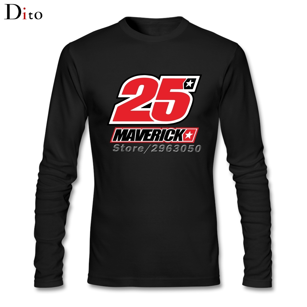 Maverick Vinales 25 Logo Men Undershirt T-shirt Great Long Sleeve Custom Family2017 MotoGP Top Racer Rider T Shirts
