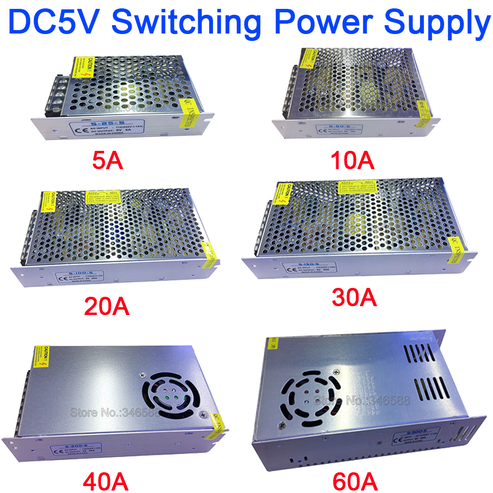 цена на 5V Regulated Switching Power Supply 5A 10A 20A 30A 40A 60A AC110V / 220V to DC5V Power Supply Unit 5 Volt Power Driver