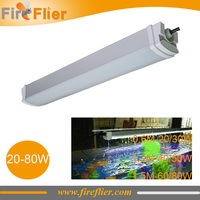 6 pcs 2ft 4ft 5ft IP65 à prova de tri-Dispositivo Elétrico de Iluminação Fluorescente 20 w 30 w 40 w 50 w 60 w 80 w tradicional T5/T8 lâmpada led substituir tubos