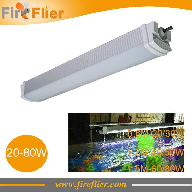 6 pièces 2ft 4ft 5ft IP65 luminaire Fluorescent tri-preuve 20 w 30 w 40 w 50 w 60 w 80 w lampe traditionnelle T5/T8 remplacer tubes LED