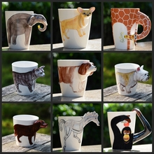 3D Animal Shape Hand Painted Animal Cup