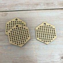 Набор из 20 шт шестигранных деревянных принадлежностей для вышивки