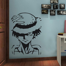 Free mail The dormitory adornment wall stickers Pirates Wang Lufei straw Creative cartoon bedroom