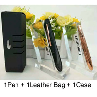 New Arrive 9CM Mini Ballpoint Pen Crocodile Office Supplies Luxury Metal Rollerball Pens 1 Pen + 1 Learther Bag + 1 Case