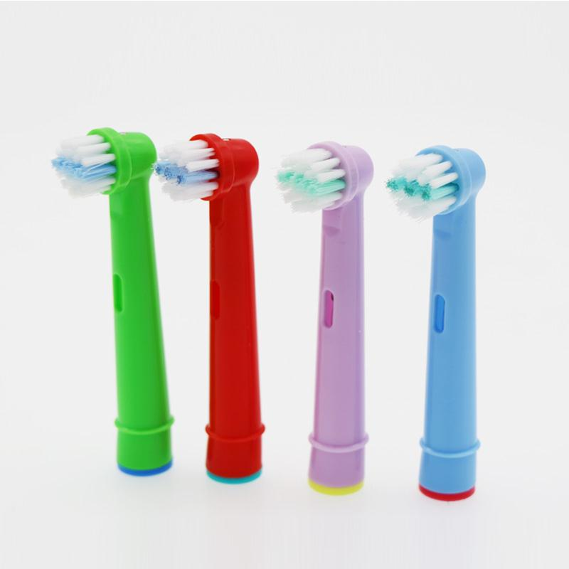 8pcs Replacement Kids Children Tooth Brush Heads For Oral-B Electric Toothbrush Fit Advance Power/Pro Health/Triumph/3D Excel image