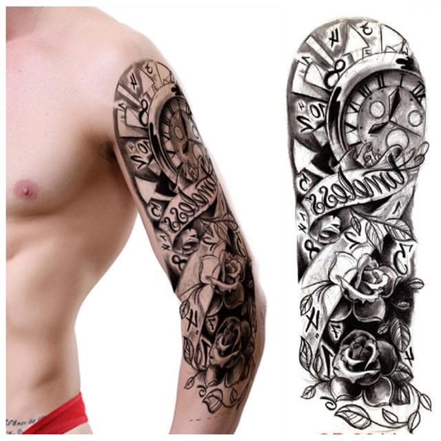 1 PC rêve étanche tatouage temporaire femmes hommes Rose ...