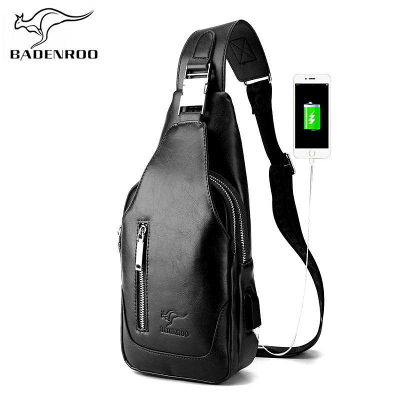 Badenroo Male bag Fashion Leather Crossbody Chest Bags Men Casual Messenger Bags Handbags Brand Designer Portable Shoulder BagsBadenroo Male bag Fashion Leather Crossbody Chest Bags Men Casual Messenger Bags Handbags Brand Designer Portable Shoulder Bags
