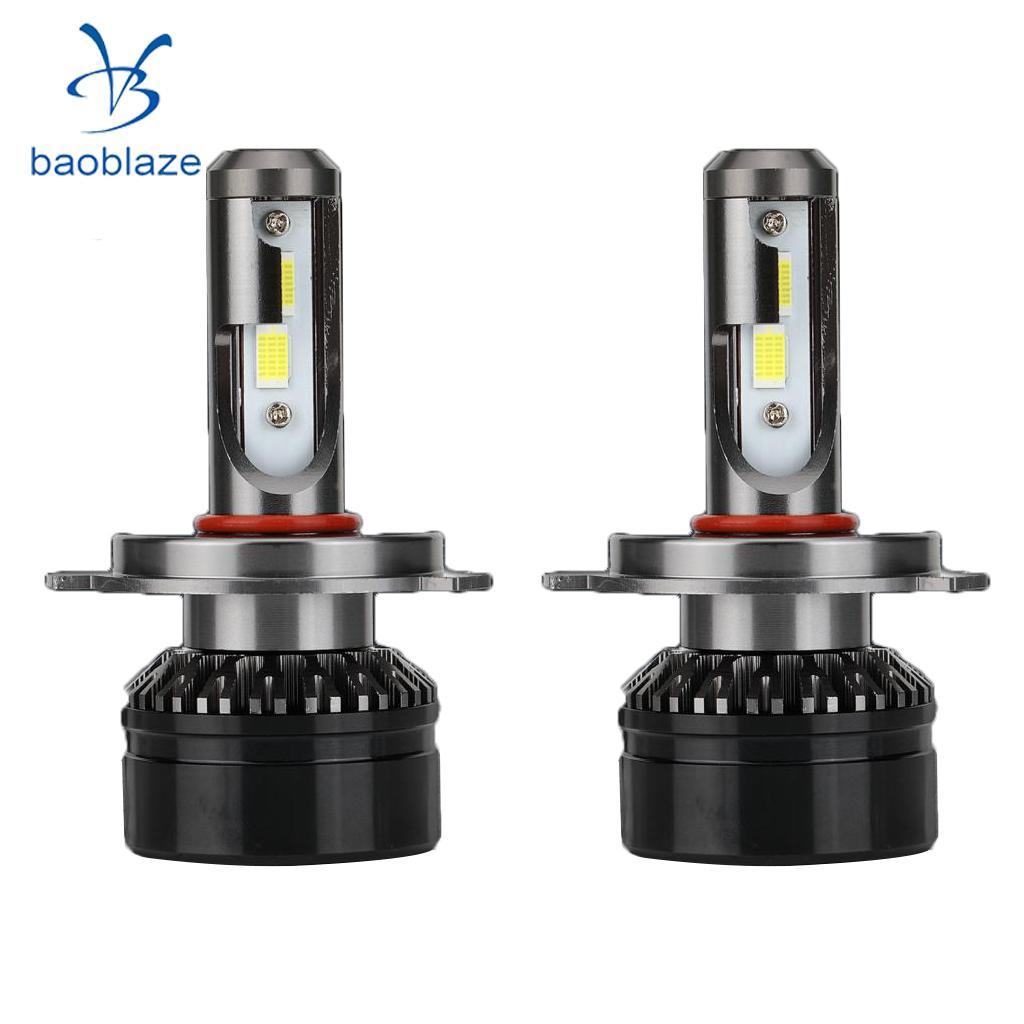 2X H4 10000LM 6000K Cool White LED Headlight Headlamp Bulbs Conversion Kit 2016 h3 car led light auto modificated headlamp led headlight bulbs all in one conversion kit 80w 7200lm 6000k white