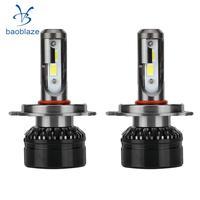 2X H4 10000LM 6000K Cool White LED Headlight Headlamp Bulbs Conversion Kit