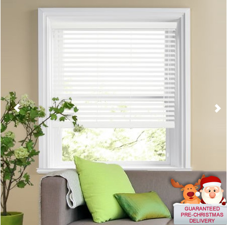 FREE SHIPPING MADE TO MEASURE WHITE WOOD WOODEN VENETIAN BLINDS REAL WOOD