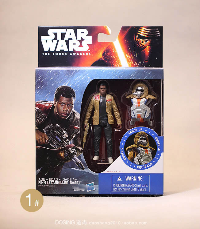 1pcs 3.75inch Star Wars figure toys Darth Vader Kylo Ren Finn Chewbacca Figures Toy with original color box free shiping by spsr 1 set of chinese edition original octonauts oktopod splelset figure toy with original box child toys