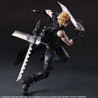 PLAY ARTS 25cm Final Fantasy VII Cloud Strife Action Figure Model Toys