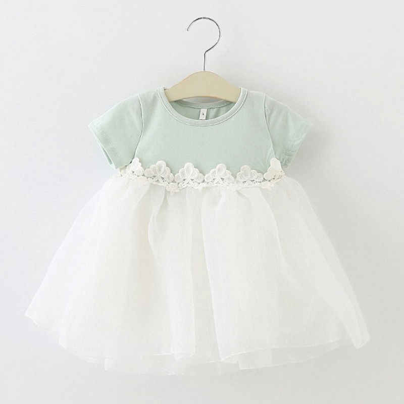Pudcoco Baby Girl Clothes Princess Dresses Party Birthday Lace Floral Baptism Bow Newborn Toddler Girls Tulle Wedding Dress