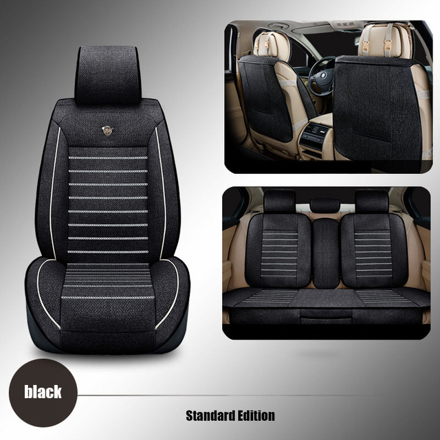linen Universal car seat cover For Dacia Sandero Duster Logan car ...