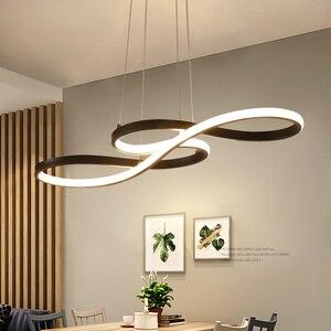 Подвесные потолочные светильники, современные светодиодные подвесные светильники, акриловая Современная Скандинавская гостиная, светоди...