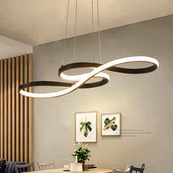 living room suspended acrylic gold Round led chandelier hanging Modern pendent lights ceiling lamps chandeliers fixtures - DISCOUNT ITEM  49 OFF Lights & Lighting